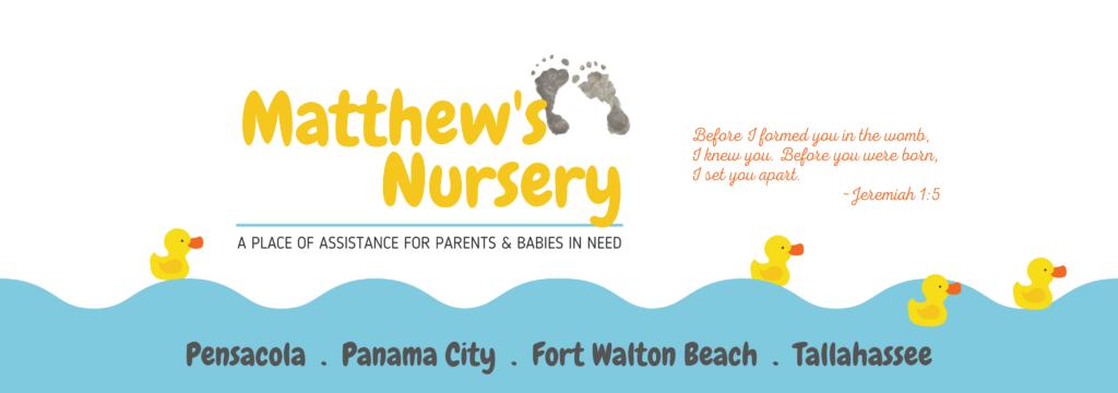 Matthew's Nursery Website Page Header