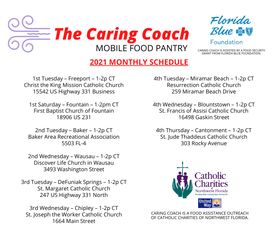 Caring Coach Monthly Schedule