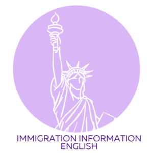 Immigration Flyer Button English