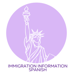 Immigration Flyer Button Spanish